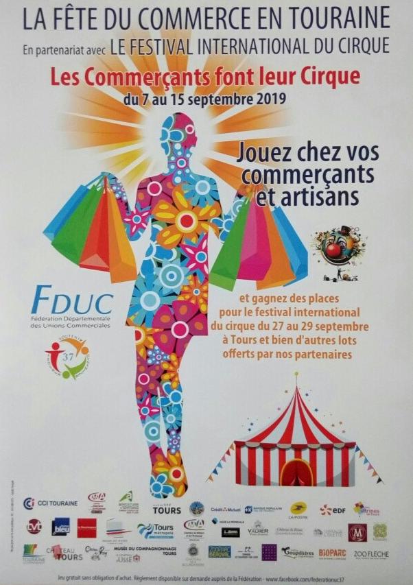 Que la Fête commence  La 6ème édition de la Fête du commerce en Touraine ça démarre aujourd'hui  Une semaine de festivité et de cadeaux à gagner  chez vos commerçants et artisans du centre-ville !!! Alors belle Fête du commerce à tous